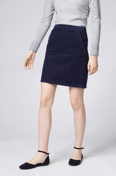 Warehouse, Cord Pelmet Skirt Navy 0
