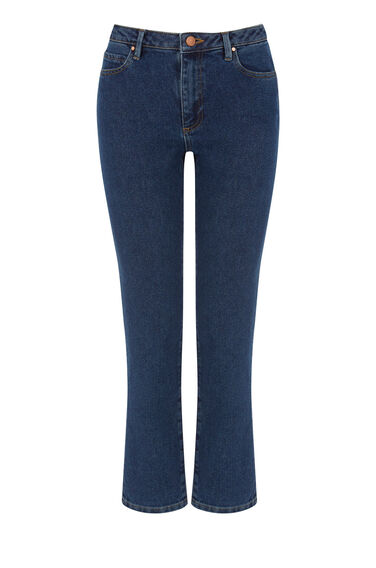 Warehouse, The Straight Cut Jean Mid Wash Denim 0