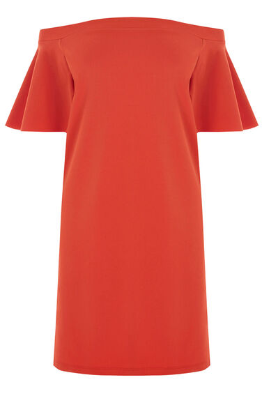 Warehouse, OFF SHOULDER DRESS Bright Red 0