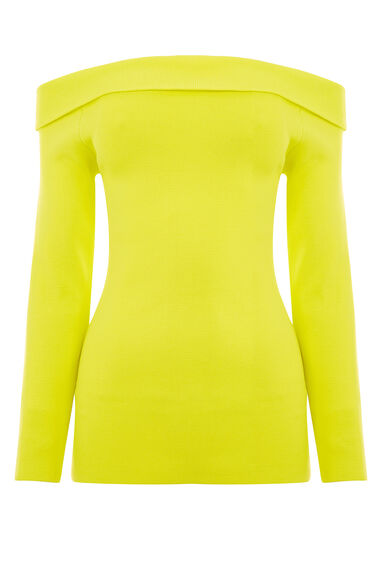 Warehouse, BARDOT JUMPER Yellow 0