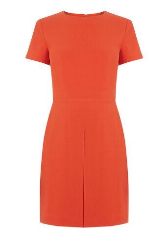Warehouse, Box Pleat Dress Bright Red 0