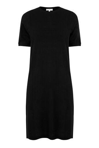 Warehouse, T-SHIRT KNIT DRESS Black 0
