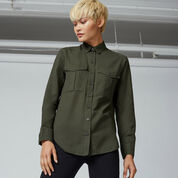 Warehouse, RELAXED POCKET DETAIL SHIRT Khaki 1