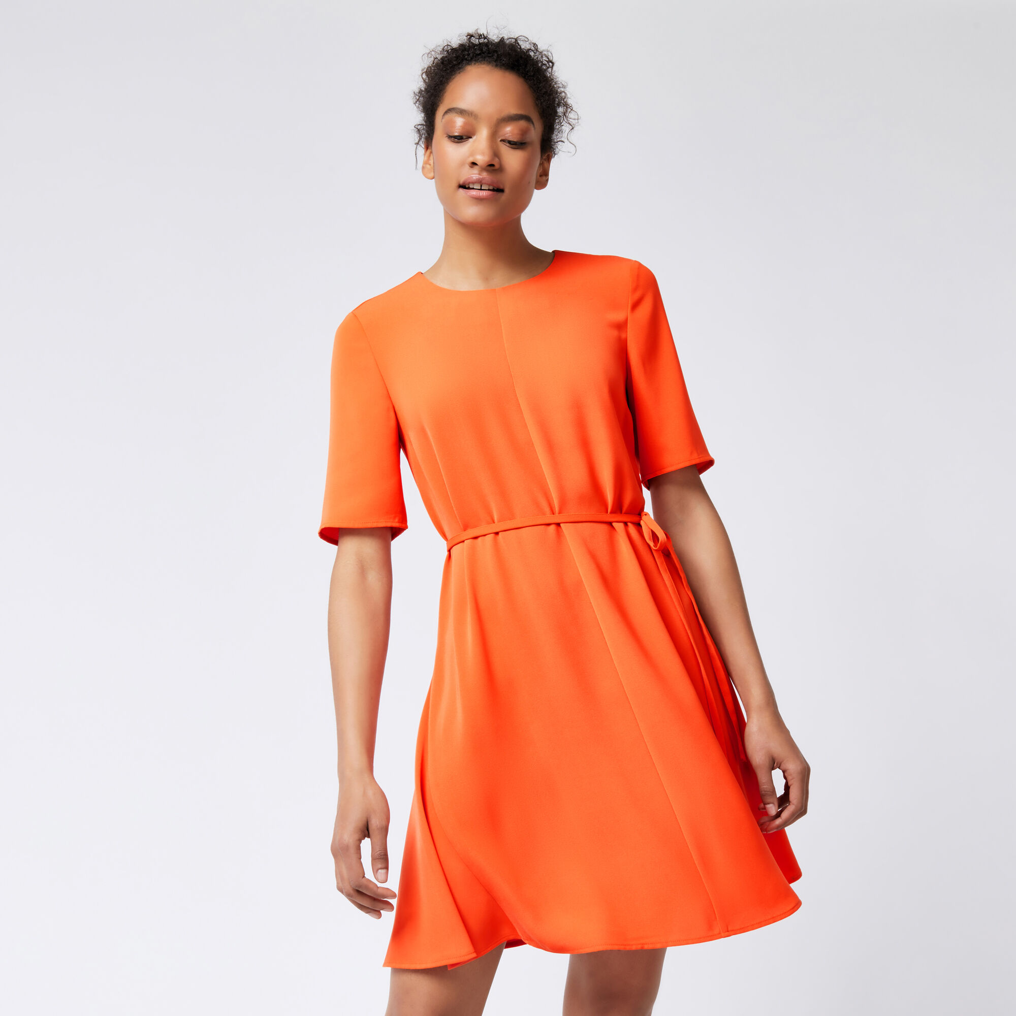 Warehouse, FLIPPY DRESS Orange 1