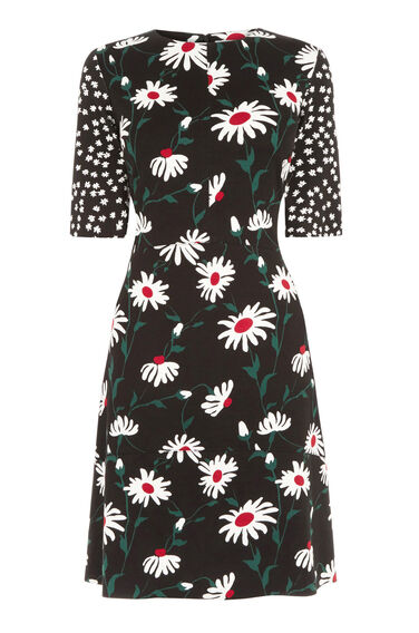 Warehouse, POP DAISY SPOT MIX DRESS Multi 0