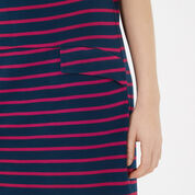 Warehouse, STRIPE PONTE SHIFT DRESS Blue Stripe 4