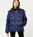 Warehouse, Fashion Padded Coat Navy 1