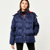 Warehouse, Fashion Padded Coat Navy 1
