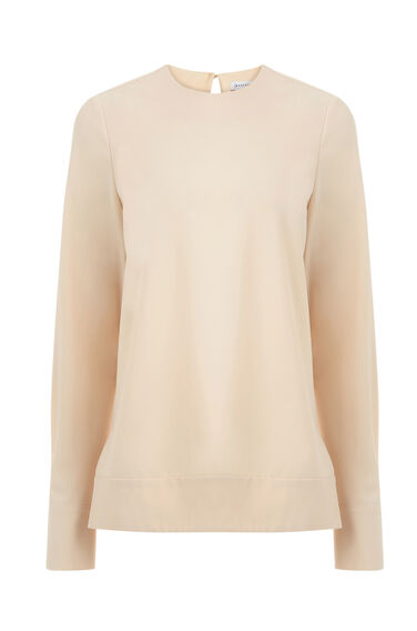 Warehouse, DIPPED HEM TOP Light Pink 0