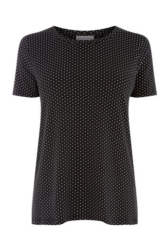 Warehouse, MINI DOT PRINT TEE Black Pattern 0