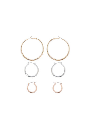 Warehouse, HOOP 3PK EARRINGS Multi 0