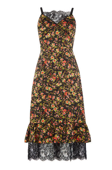 Warehouse, SIDNEY FLORAL PEPLUM DRESS Multi 0