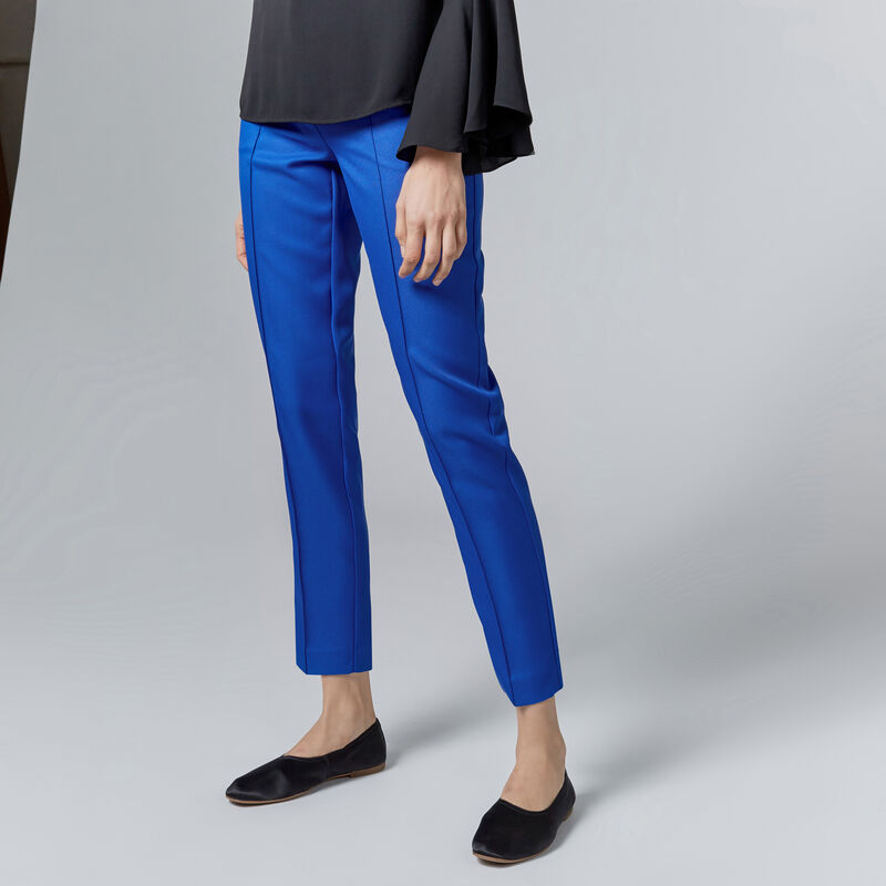 Warehouse, STITCH SEAM TROUSER Bright Blue 1