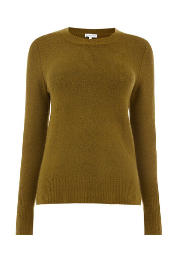 Warehouse, SOFT CREW JUMPER Khaki 0