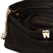 Warehouse, Leather Metallic Crossbody Bag Black 4