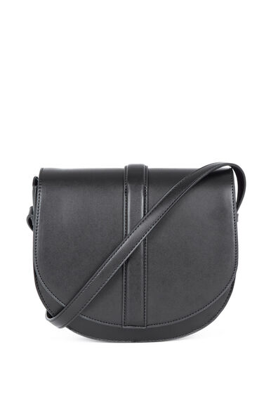 Warehouse, Clean Saddle Bag Black 0
