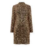 Warehouse, VELVET SEQUIN HIGH NECK DRESS Gold Colour 0