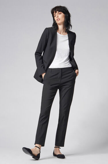 Warehouse, PINSPOT ONE BUTTON BLAZER Black 0
