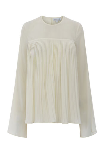 Warehouse, PLEAT FRONT TOP Cream 0