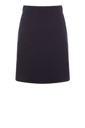Warehouse, COMPACT COTTON SKIRT Navy 0
