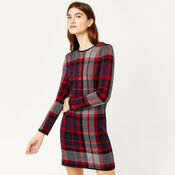 Warehouse, CHECK KNITTED DRESS Red Pattern 1