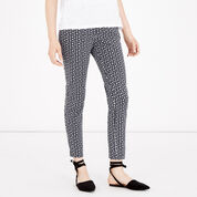 Warehouse, SQUIGGLE PRINT TROUSERS Navy 1