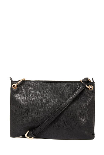 Warehouse, SIDE PLEATED CROSSBODY BAG Black 0