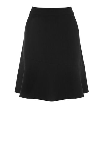 Warehouse, PEPLUM HEM SKIRT Black 0