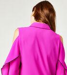 Warehouse, OPEN COLD SHOULDER SHIRT Bright Pink 4