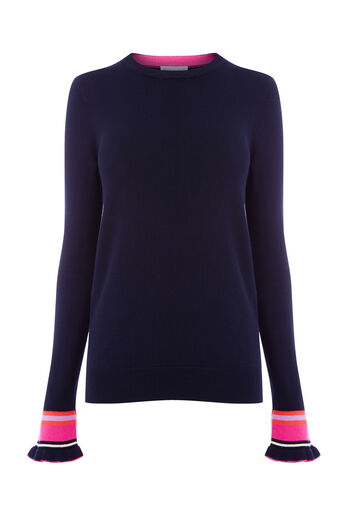 Warehouse, FLARED STRIPE CUFF JUMPER Multi 0