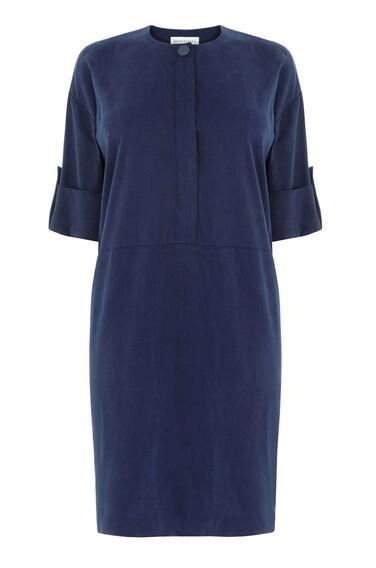 Warehouse, POPPER DETAIL SHIRT DRESS Navy 0