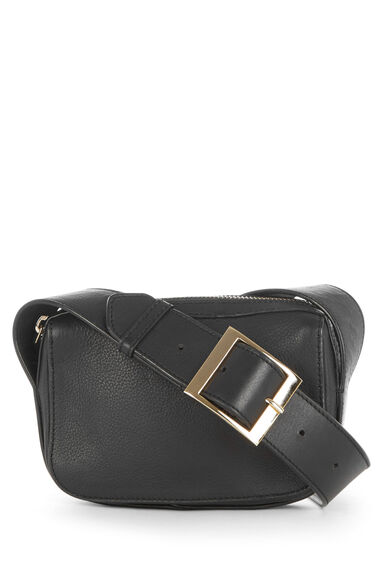 Warehouse, LEATHER MINI CROSSBODY BAG Black 0