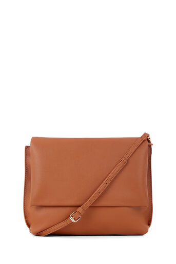 Warehouse, BUFF SMOOTH CROSSBODY BAG Tan 0
