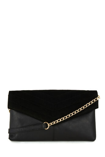 Warehouse, LEATHER QUILTED CROSSBODY BAG Black 0