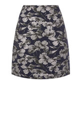 Warehouse, FLORAL JACQUARD PELMET SKIRT Multi 0
