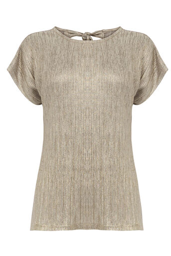 Warehouse, CRINKLE TEE Gold Colour 0