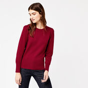 Warehouse, PUFF SLEEVE JUMPER Bright Red 1