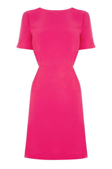Warehouse, CROSS BACK DRESS Bright Pink 0