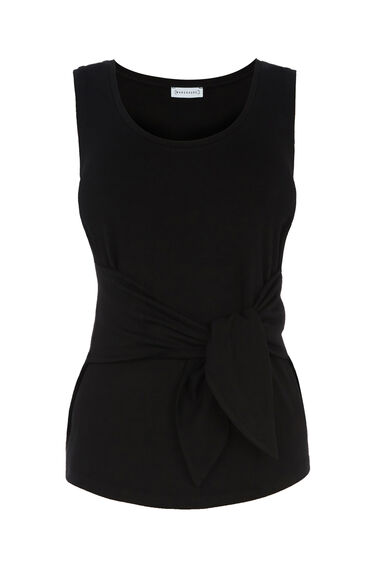 Warehouse, TIE FRONT VEST Black 0