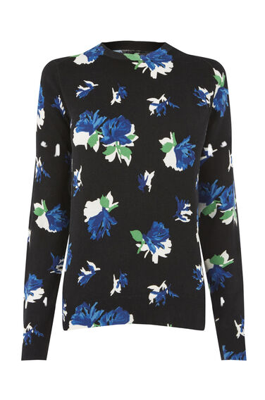 Warehouse, ROSE PRINT JUMPER Black 0