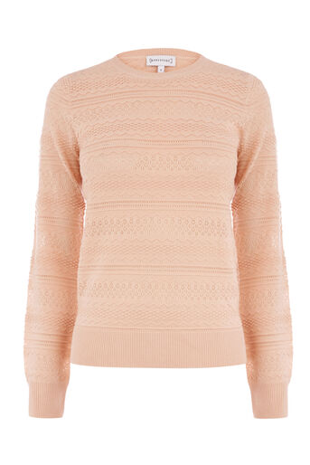 Warehouse, PRETTY STITCH JUMPER Light Pink 0