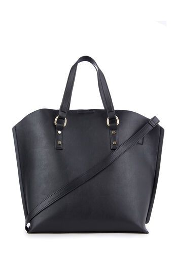 Warehouse, HARDWARE CURVE TOP SHOPPER Black 0