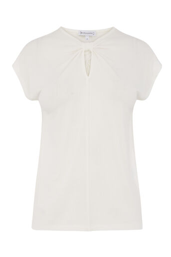 Warehouse, KNOT NECK TEE White 0
