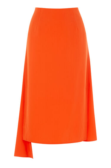 Warehouse, ASYMMETRIC SKIRT Orange 0