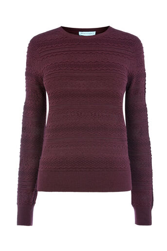 Warehouse, PRETTY STITCH JUMPER Berry 0