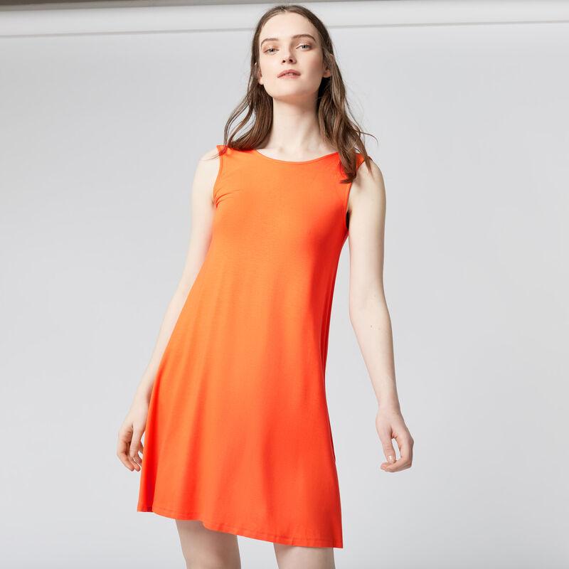 Warehouse, STRAP BACK SWING DRESS Orange 1