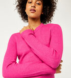 Warehouse, SOFT CREW JUMPER Bright Pink 4