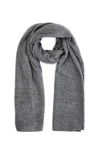 Warehouse, CASHMERE SCARF Dark Grey 0
