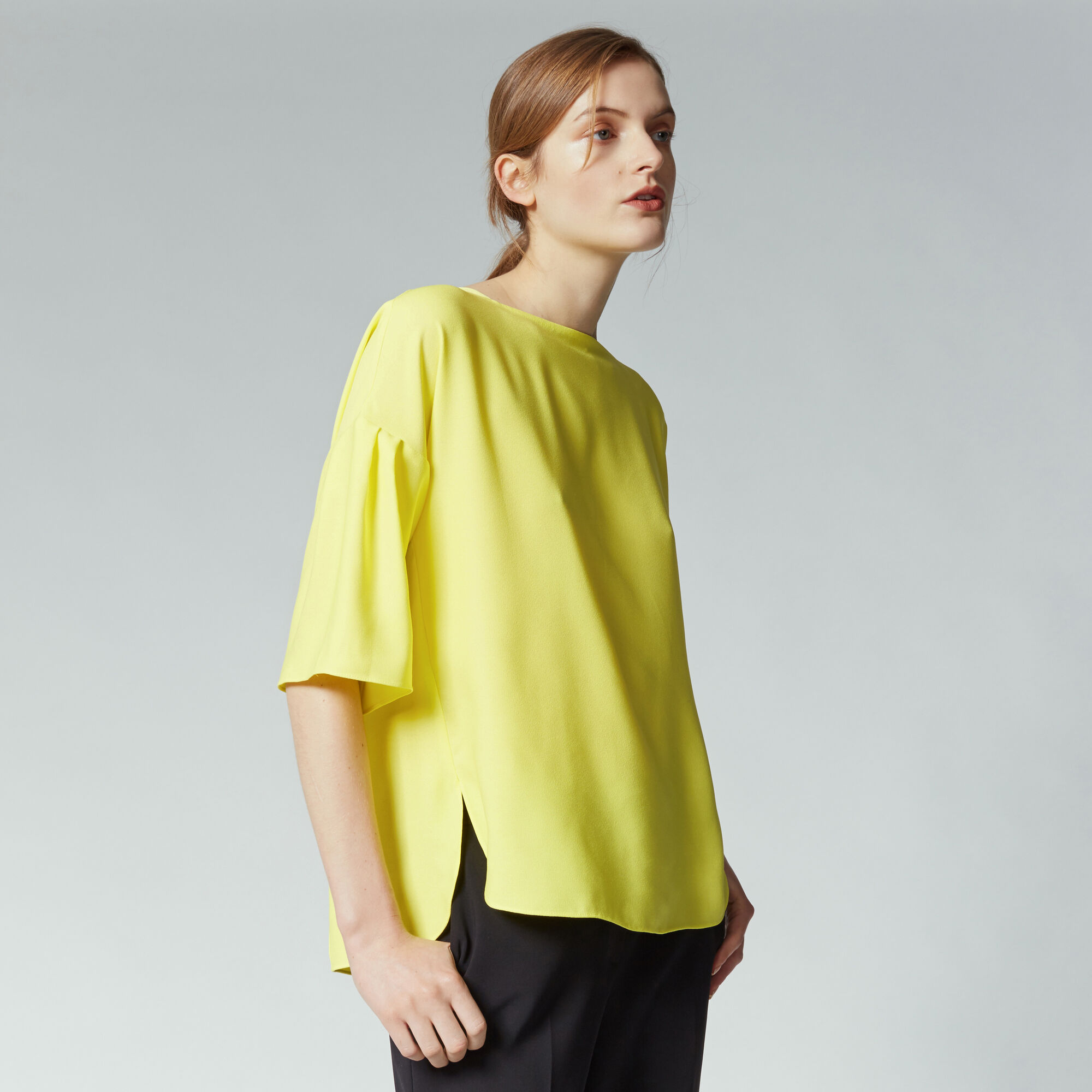 Warehouse, TIE BACK TOP Yellow 1