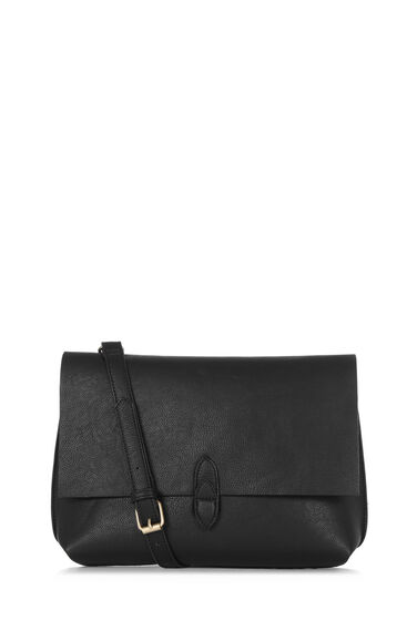 Warehouse, DOUBLE TAB DETAIL CLUTCH BAG Black 0
